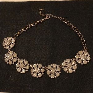 Rhinestone flower necklace